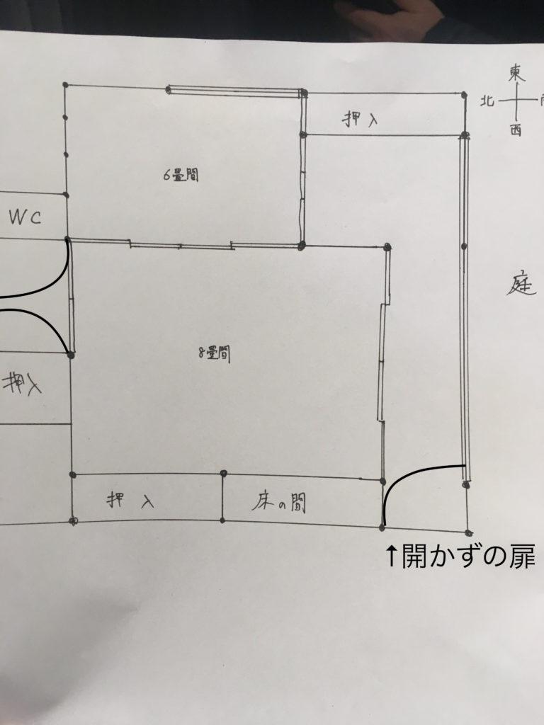 この空き家をDIY初心者の自分がDIYでリノベーションします。図にするとこんな感じです。