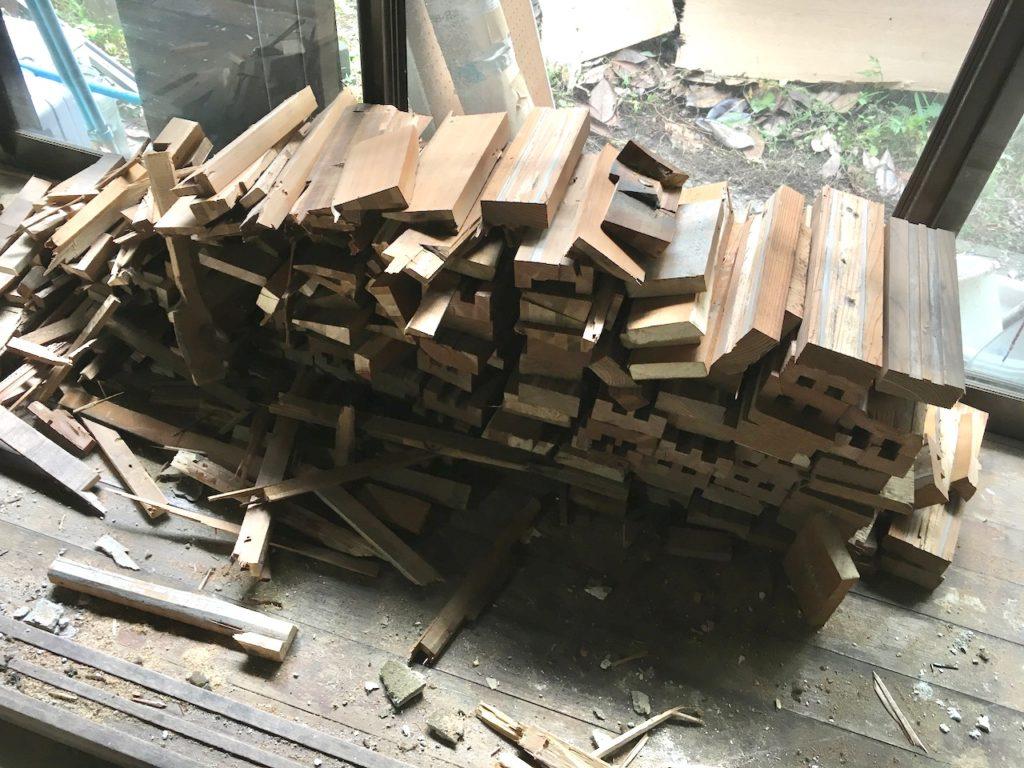 DIYでリノベーションをすると、廃材の運び出しがまたかなり大変です。これにかなり労力が取られます。