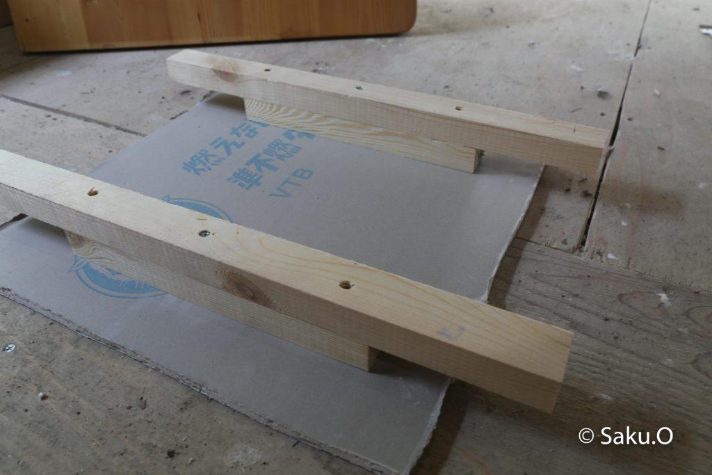 石膏ボードと野縁材で天井点検口を自作する