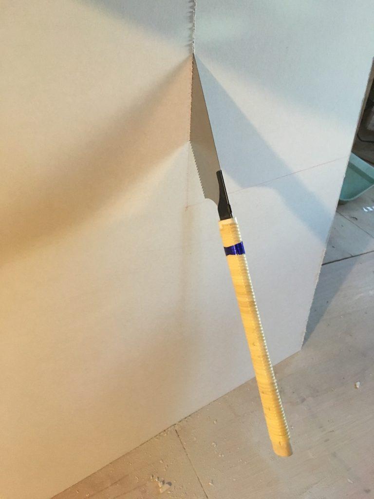 ケイカル板の楽で簡単な切り方。