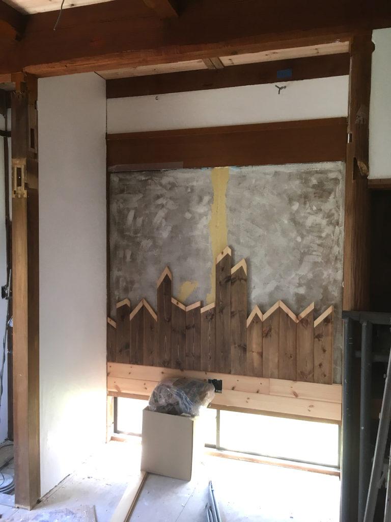 和室の砂壁をお洒落に塗り替える。