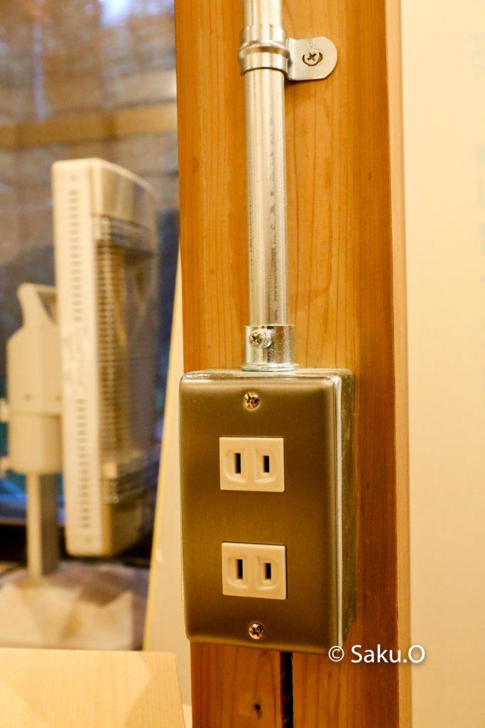 DIYでのリノベーションのコンセントアイデア。 1つのコンセントはインダストリアルなデザインになりました。