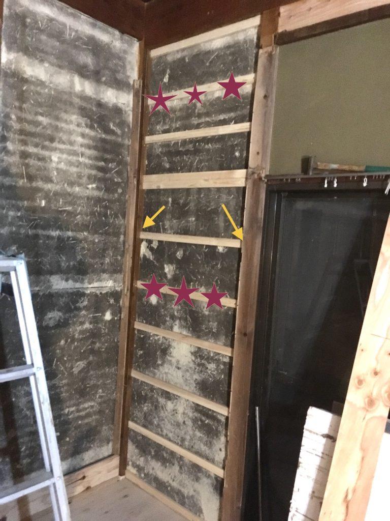 古民家の土壁を断熱しながら塞ぐ方法
