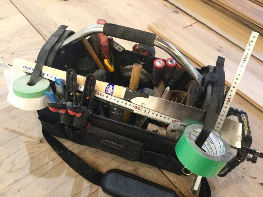 ツールキャリーは長い工具も収納できるので、DIYには絶対おすすめです。