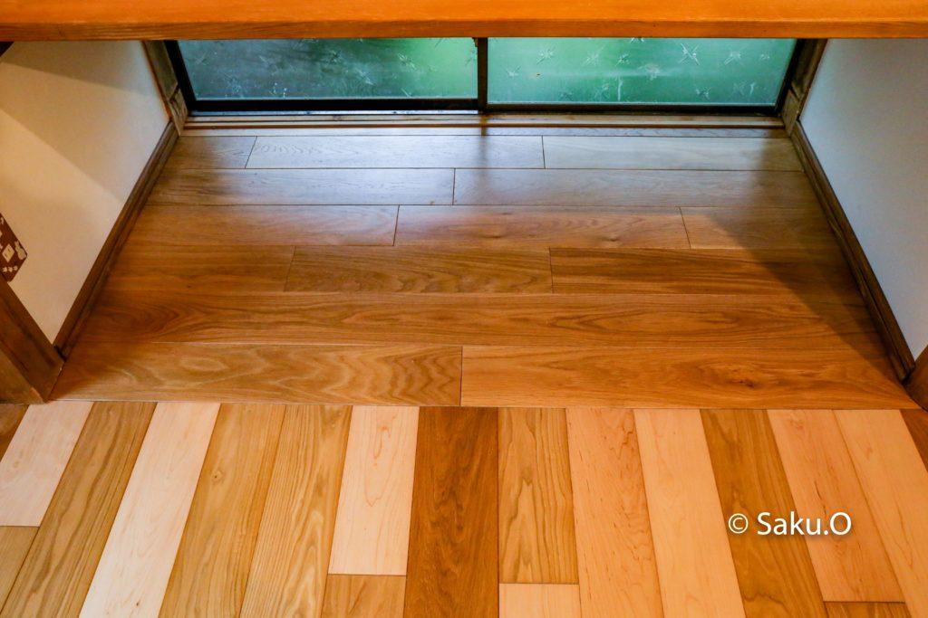 床の間をDIYでリフォームして、オークの無垢フローリングを貼ってみました。