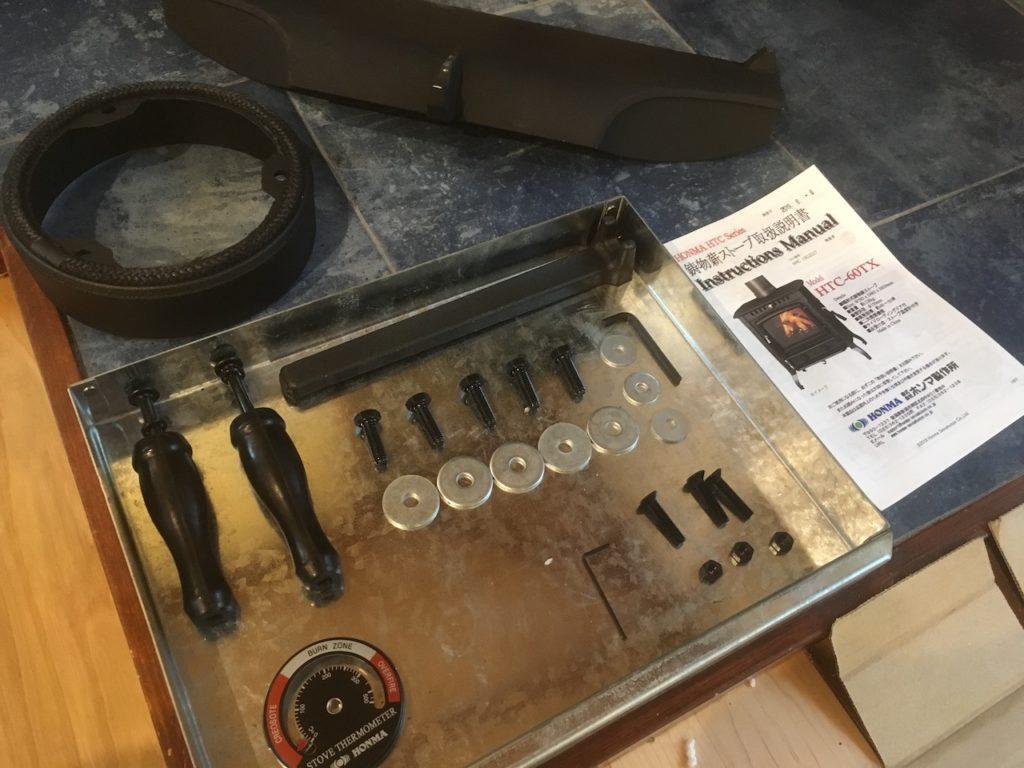 ホンマ製作所の鋳鉄製の薪ストーブの付属品です。